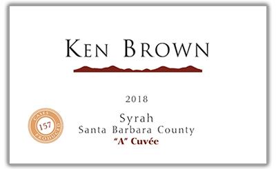 Ken Brown 2018 A Cuvee Syrah